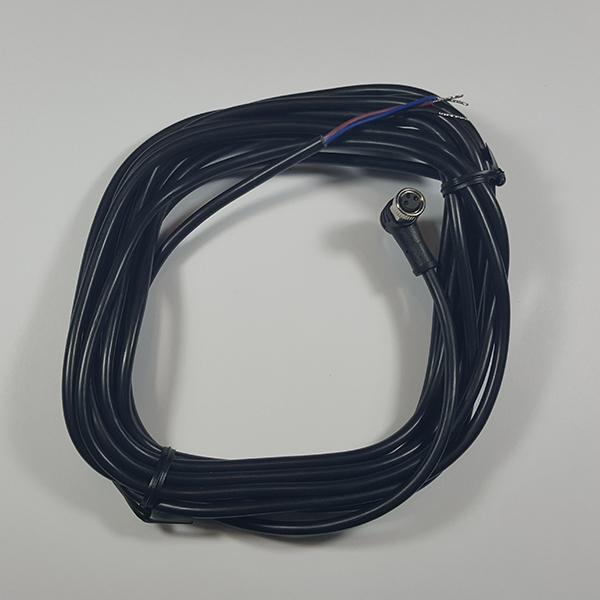 Lanbao - Angle plug M8 cable with locking nut, 5m #EEC0103