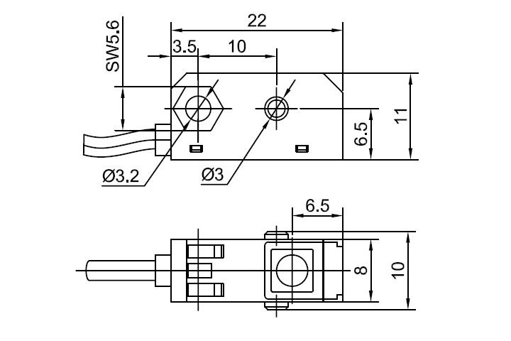 Lanbao Lanbao Through Beam Sensor Emitter Amp Receiver