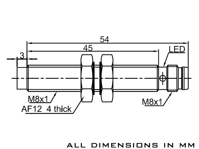 Lanbao Lanbao Inductive Sensor Pnp No M8 Esi0004