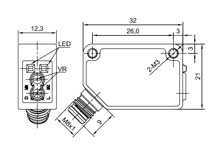 Lanbao Diffuse Reflective Sensor