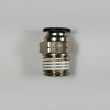 "Male connector, 1/4"" OD tube, 1/4 NPT thread Push-to-Connect, straight fitting, pneumatics, best fittings,"