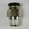 "Male connector, 3/8"" OD tube, 3/8 NPT thread Push-to-Connect, straight fitting, pneumatics, best fittings,"