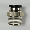 "Male connector, 1/2"" OD tube, 1/2 NPT thread Push-to-Connect, straight fitting, pneumatics, best fittings, Male connector 1/2-1/2NPT,"