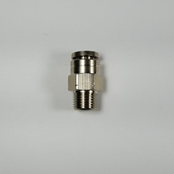 "Male connector, 1/4"" OD tube, 1/8 G thread Male connector 1/4-1/8NPT, nickel-plated brass fittings, nickel plated push to connect, brass pneumatic fittings, brass tube connectors,"