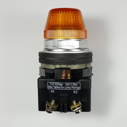 Amber pilot light, 24V Amber pilot light, 30 mm, indicating light, eaton pilot light, 24v amber light, HT8HFAV3, HT800 series,